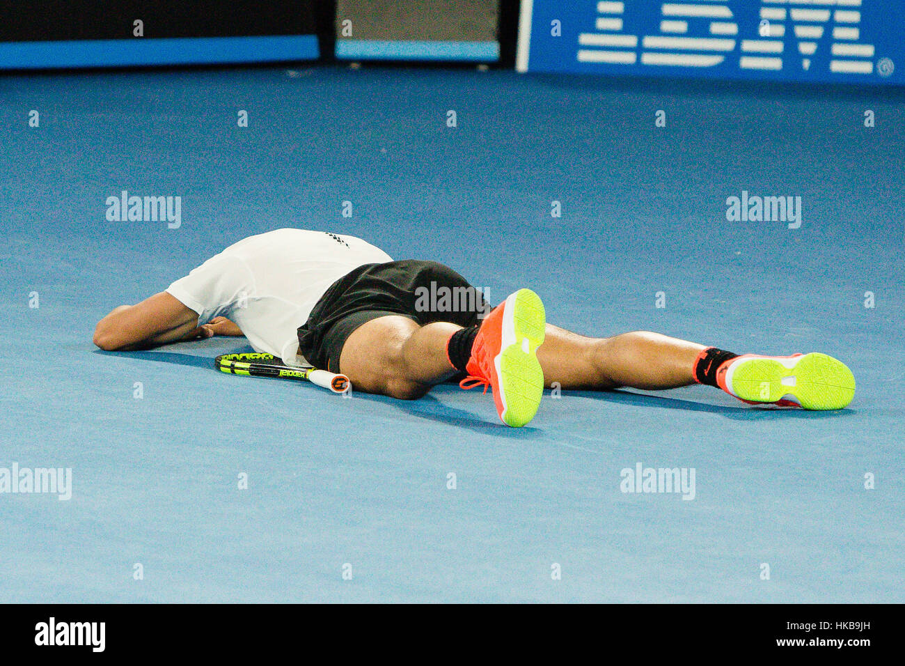 Melbourne, Australia. 27th Jan, 2017. Rafael Nadal of Spain went into his 4th final at the 2017 Australian Open - Stock Image