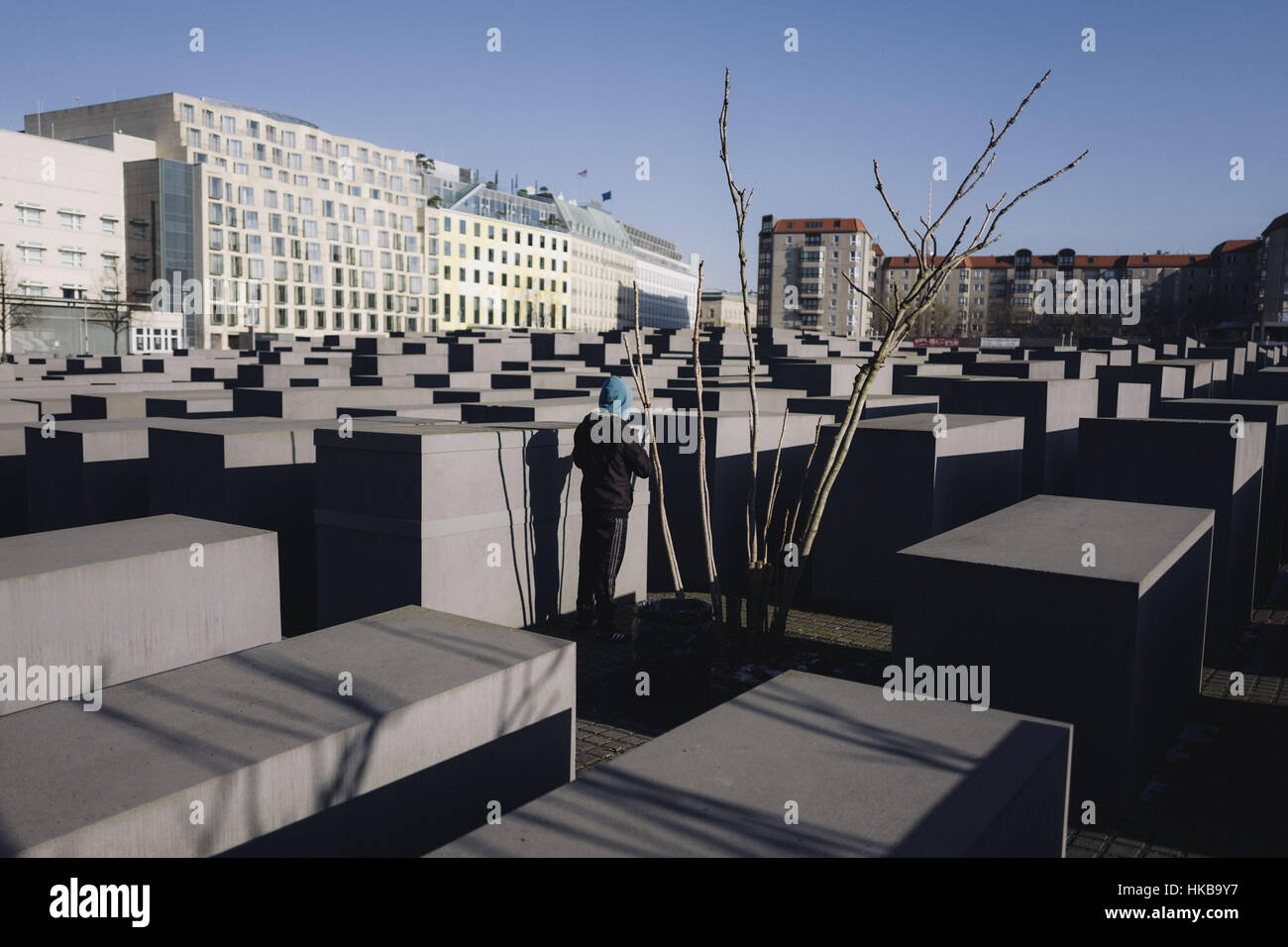 Berlin, Berlin, Germany. 27th Jan, 2017. The Memorial to the Murdered Jews of Europe also known as the Holocaust Stock Photo