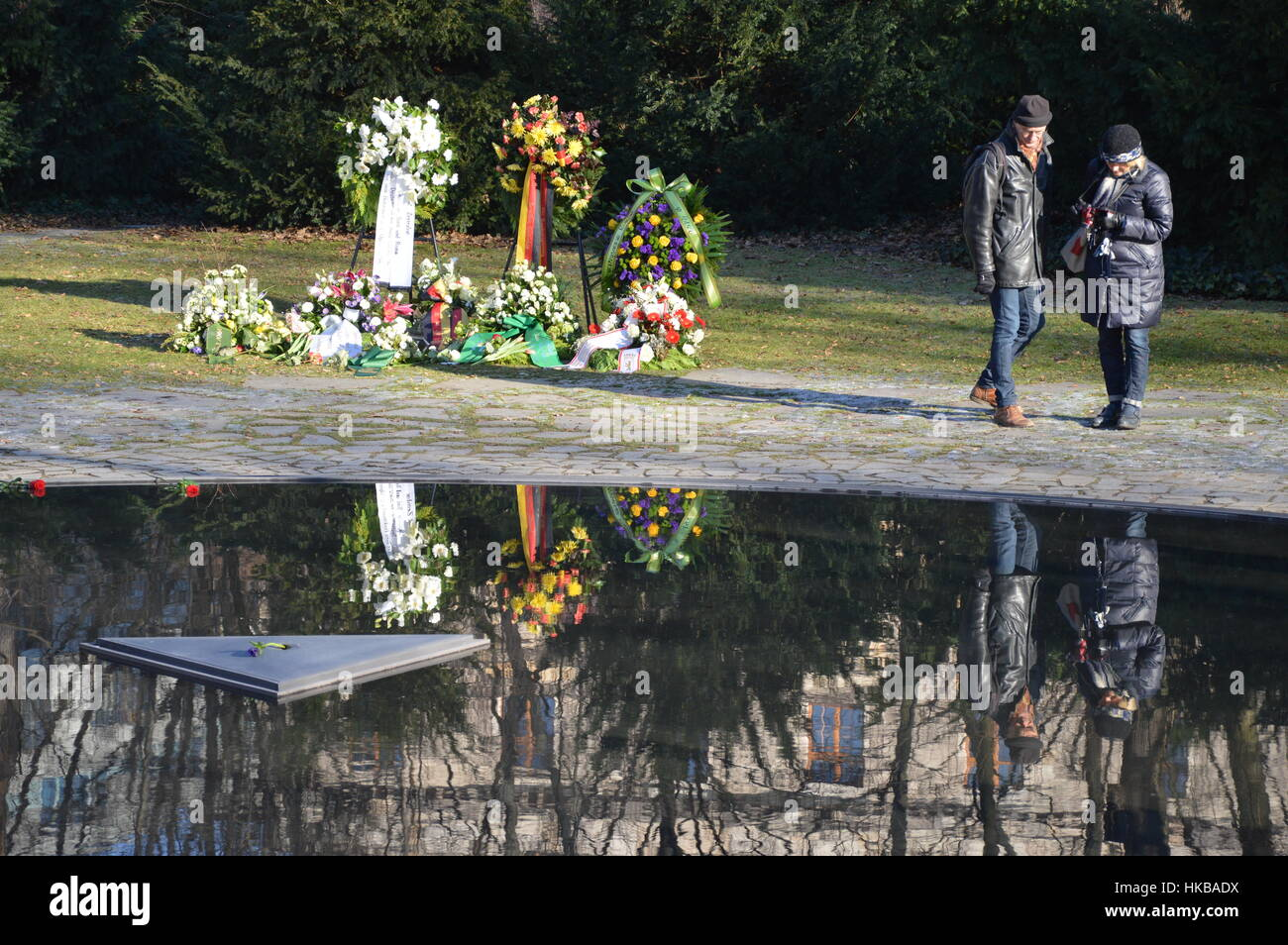 Berlin, Germany. 27th Jan, 2017 - International Holocaust Remembrance Day in Berlin Credit: Markku Rainer Peltonen/Alamy - Stock Image