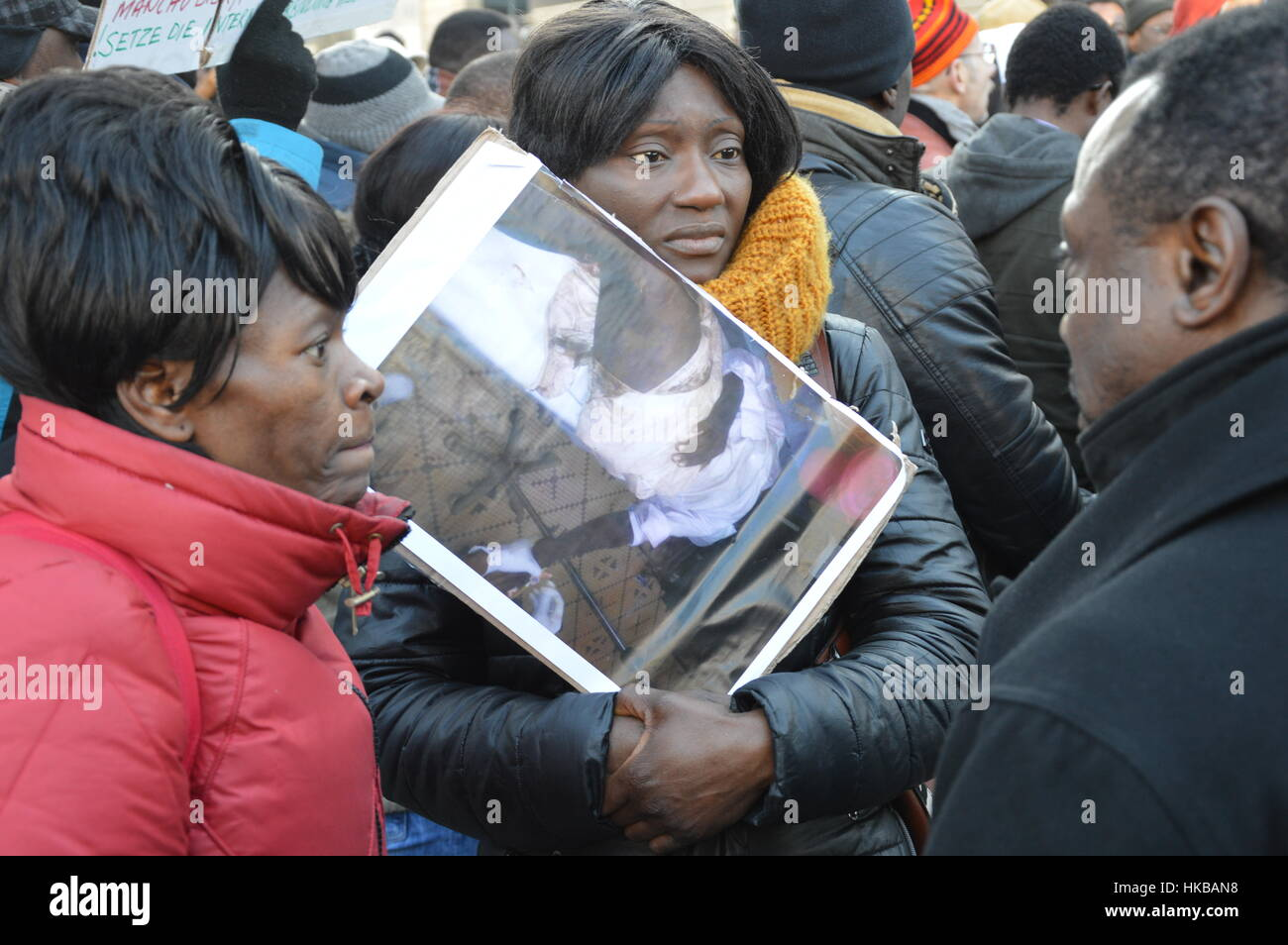 Berlin, Germany. 27th Jan, 2017 - Cameroon anglophone rally in Berlin Credit: Markku Rainer Peltonen/Alamy Live Stock Photo