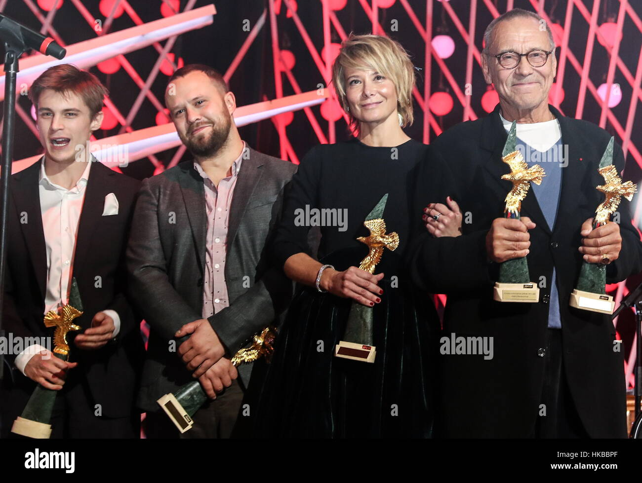 Moscow, Russia. 27th Jan, 2017. Russian actor Ivan Yankovsky who has won the Best Leading Actor award, Russian filmStock Photo
