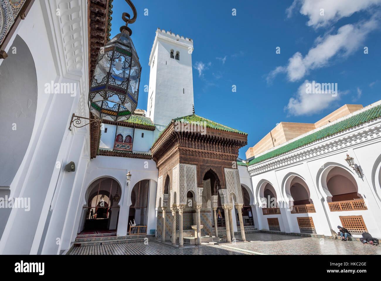 Al-Qarawiyyin Mosque and university Fes Morocco Stock Photo
