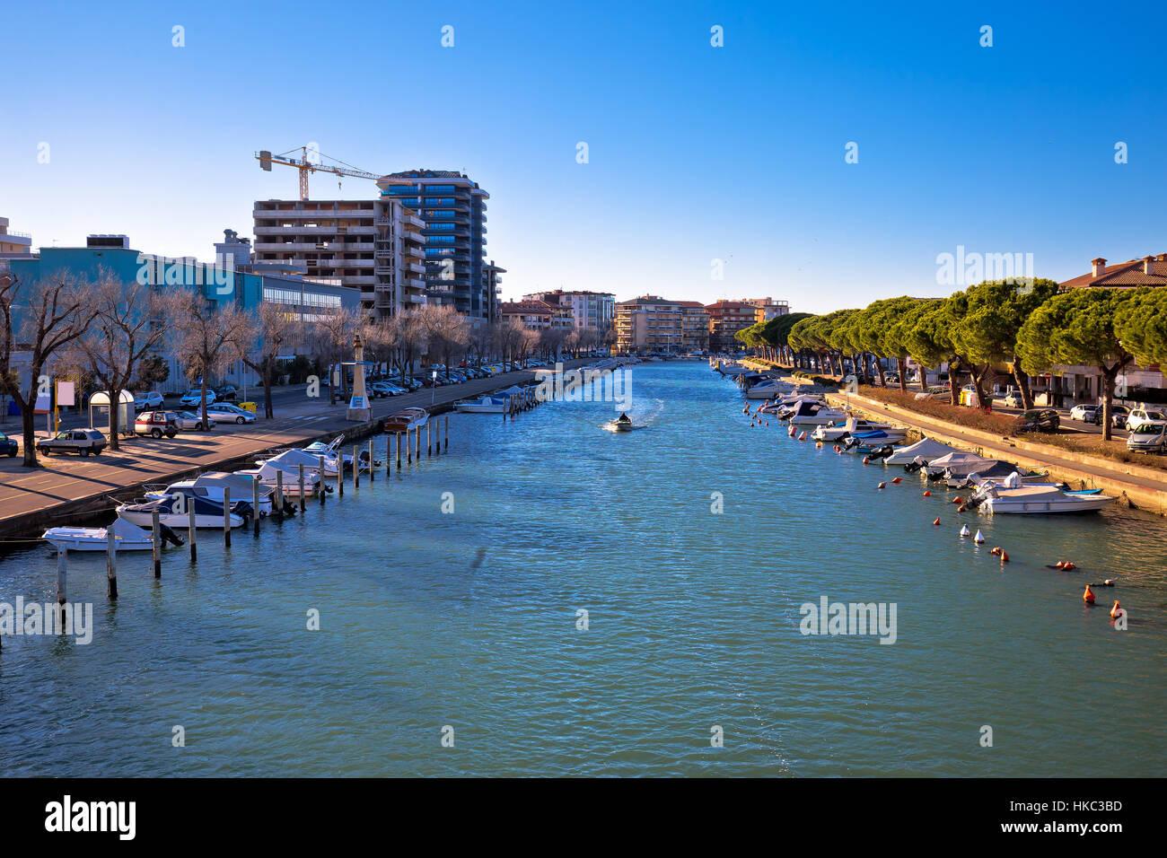 Town of Grado channel coast view, Friuli-Venezia Giulia region of Italy - Stock Image