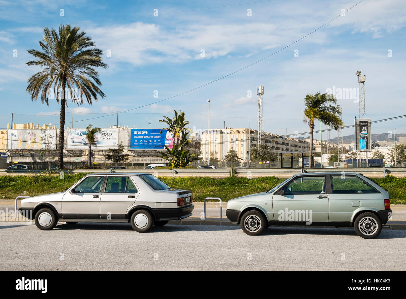 1990 Seat Malaga 1.2 - 1986 Seat Ibiza 1.2 GLX - Stock Image