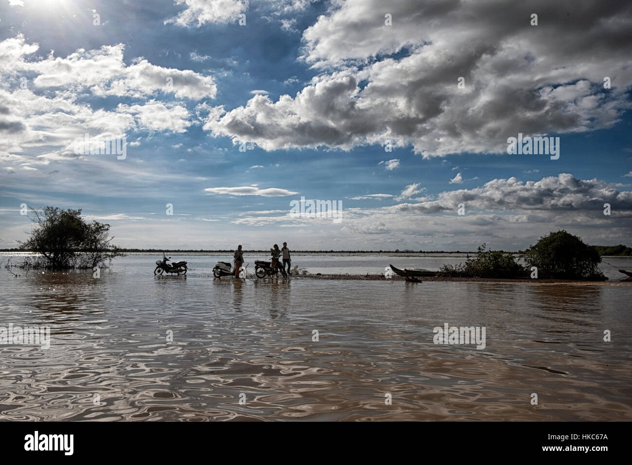 Tonle Sap Lake, Cambodia. - Stock Image