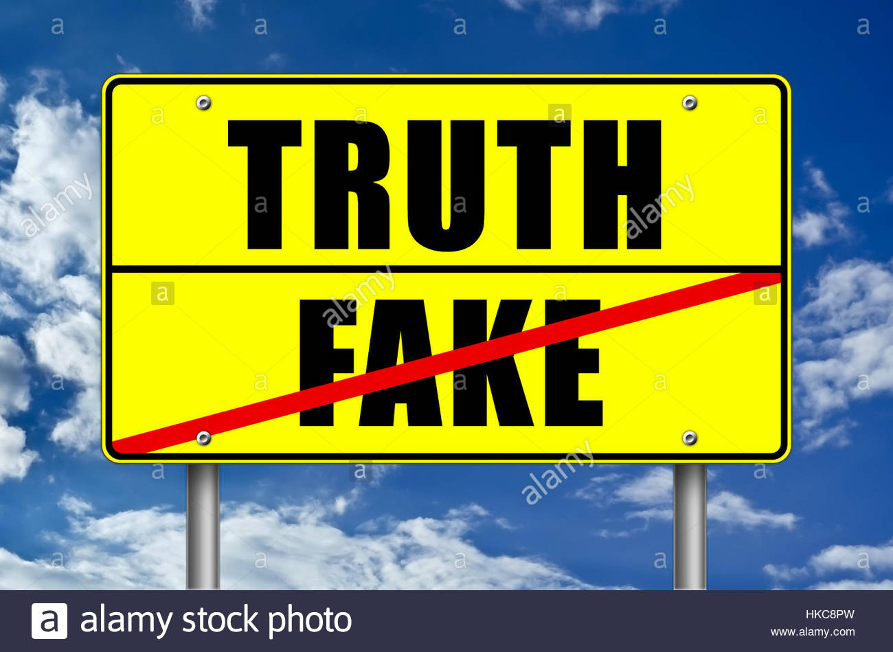 Truth or Fake - Stock Image