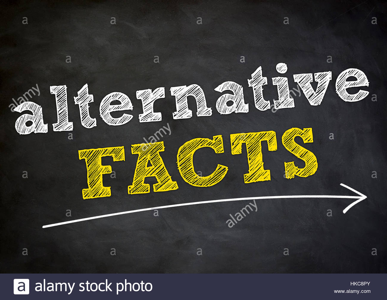 alternative facts - Stock Image