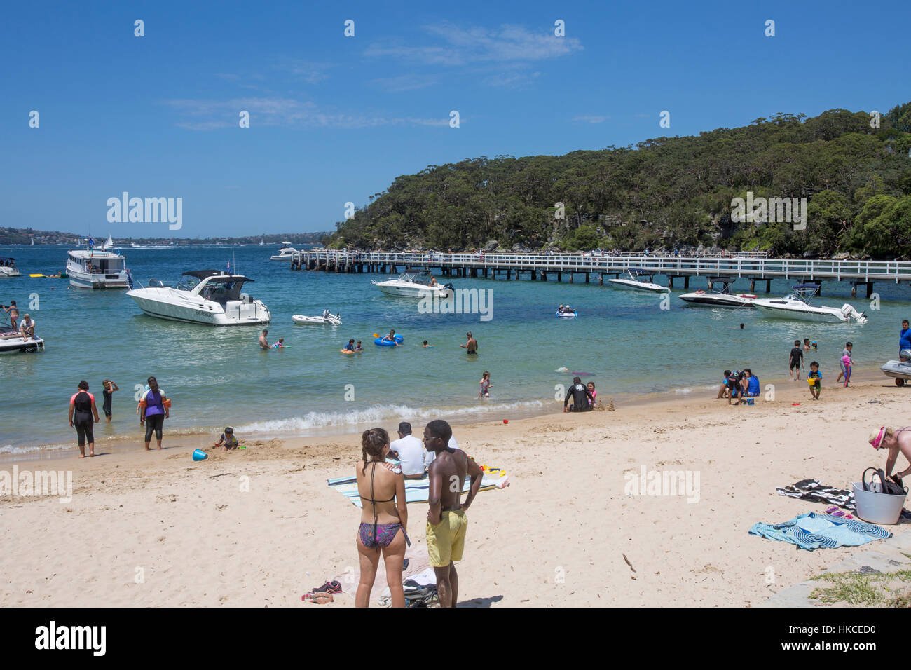 Chowder Bay at Clifton Gardens in Sydney Harbour National Park,Sydney,Australia on a summers day. - Stock Image