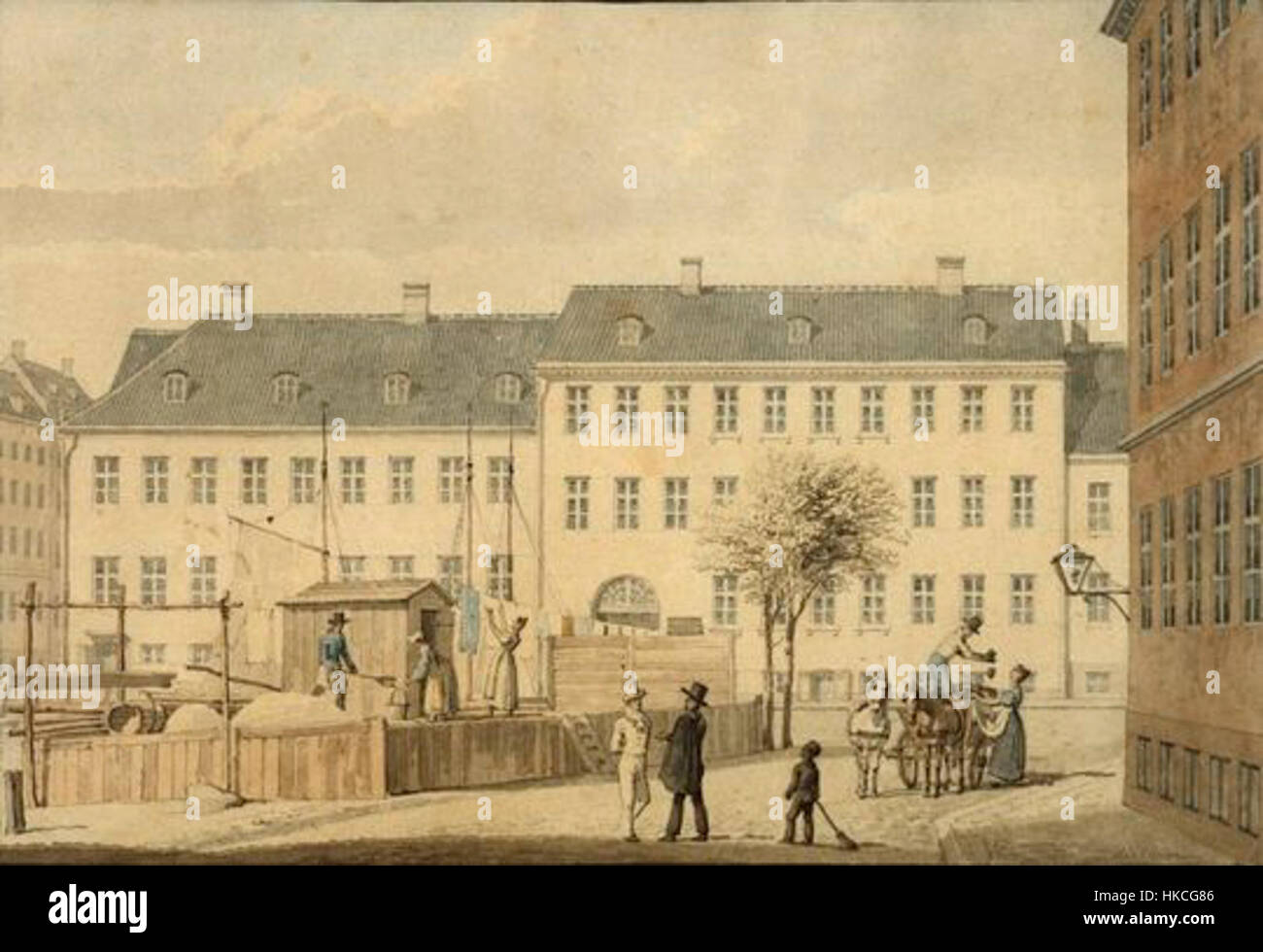 H. G. F. Holm   Frederiksholms Kanal, 1835 - Stock Image