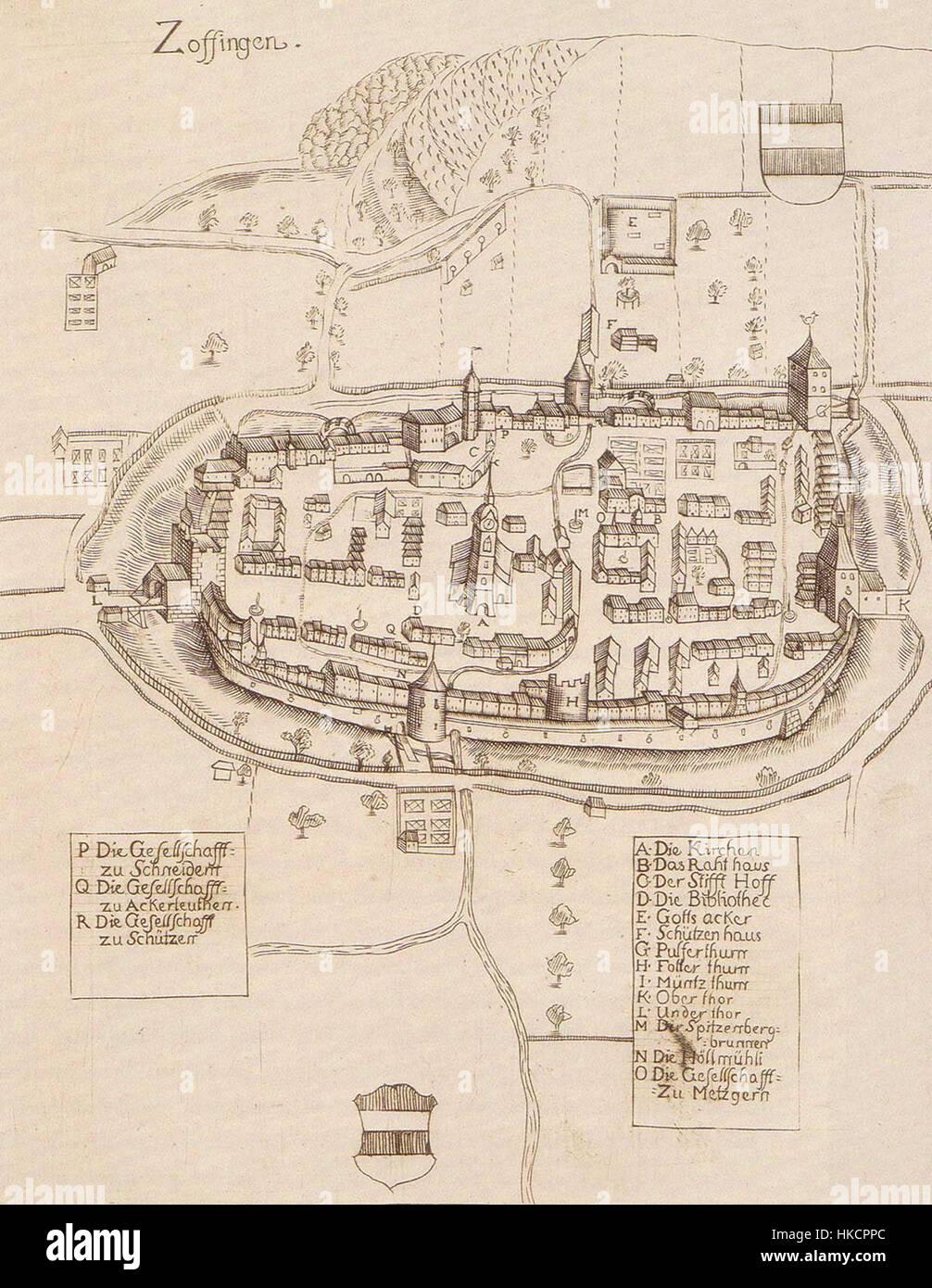 Zofingen 1715 - Stock Image
