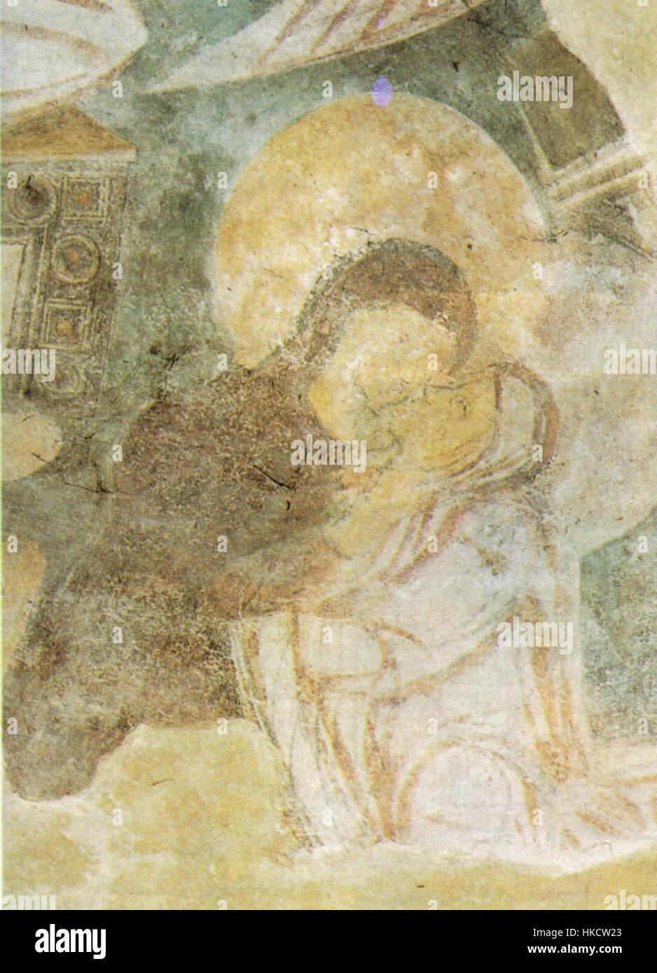 Benevento, chiesa di santa sofia, visitazione (particolare) affresco fine VIII inizio IX secolo Stock Photo