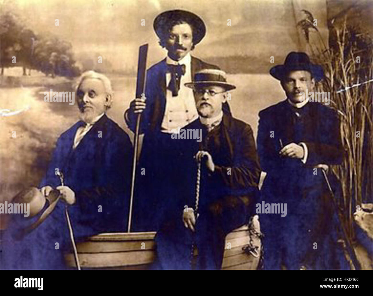 Mendele Mos Sholem Aleichem Ben Ami Bialik Odessa 1910 - Stock Image
