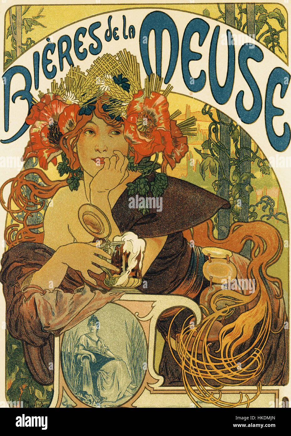 Alphonse Mucha   Bieres de la Muse - Stock Image