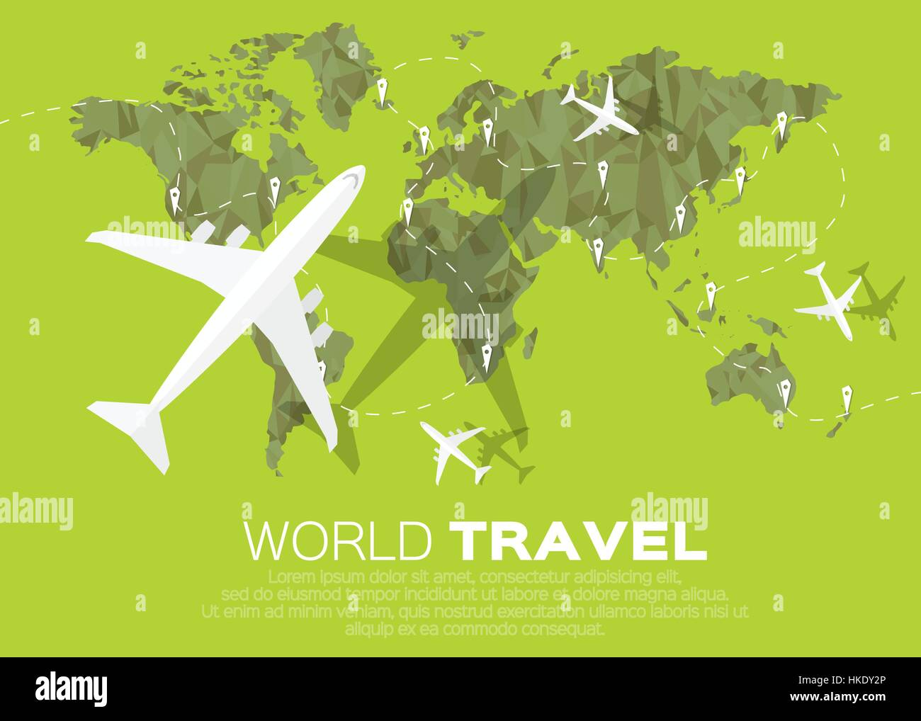 Travel world map background in polygonal style with top view stock travel world map background in polygonal style with top view airplane vector illustration design gumiabroncs Choice Image