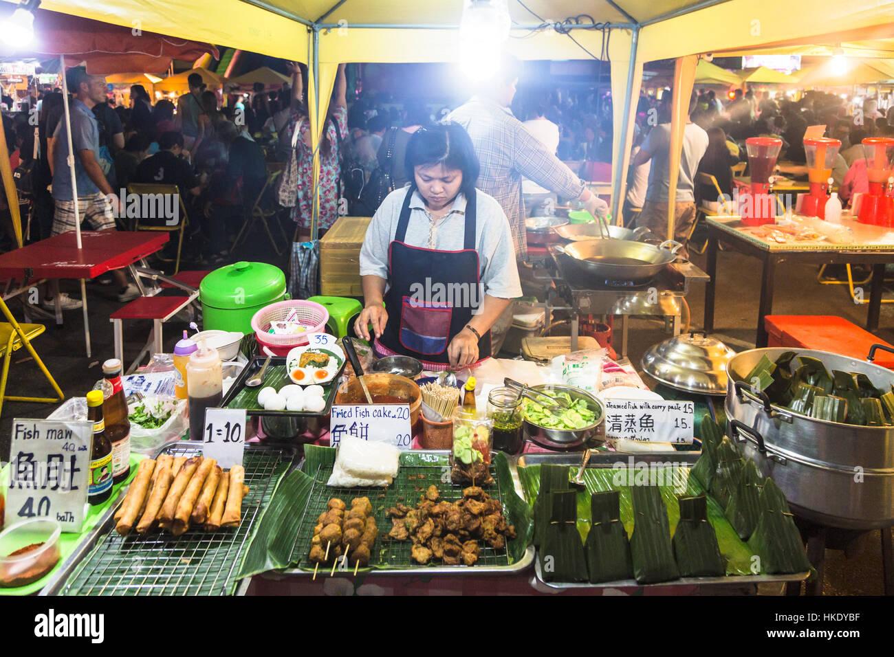 Krabi Thailand December 20 2015 A Woman Prepares Fresh