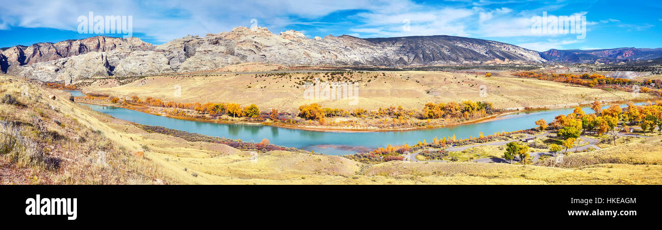 Dinosaur National Monument autumn landscape, Utah, USA. - Stock Image