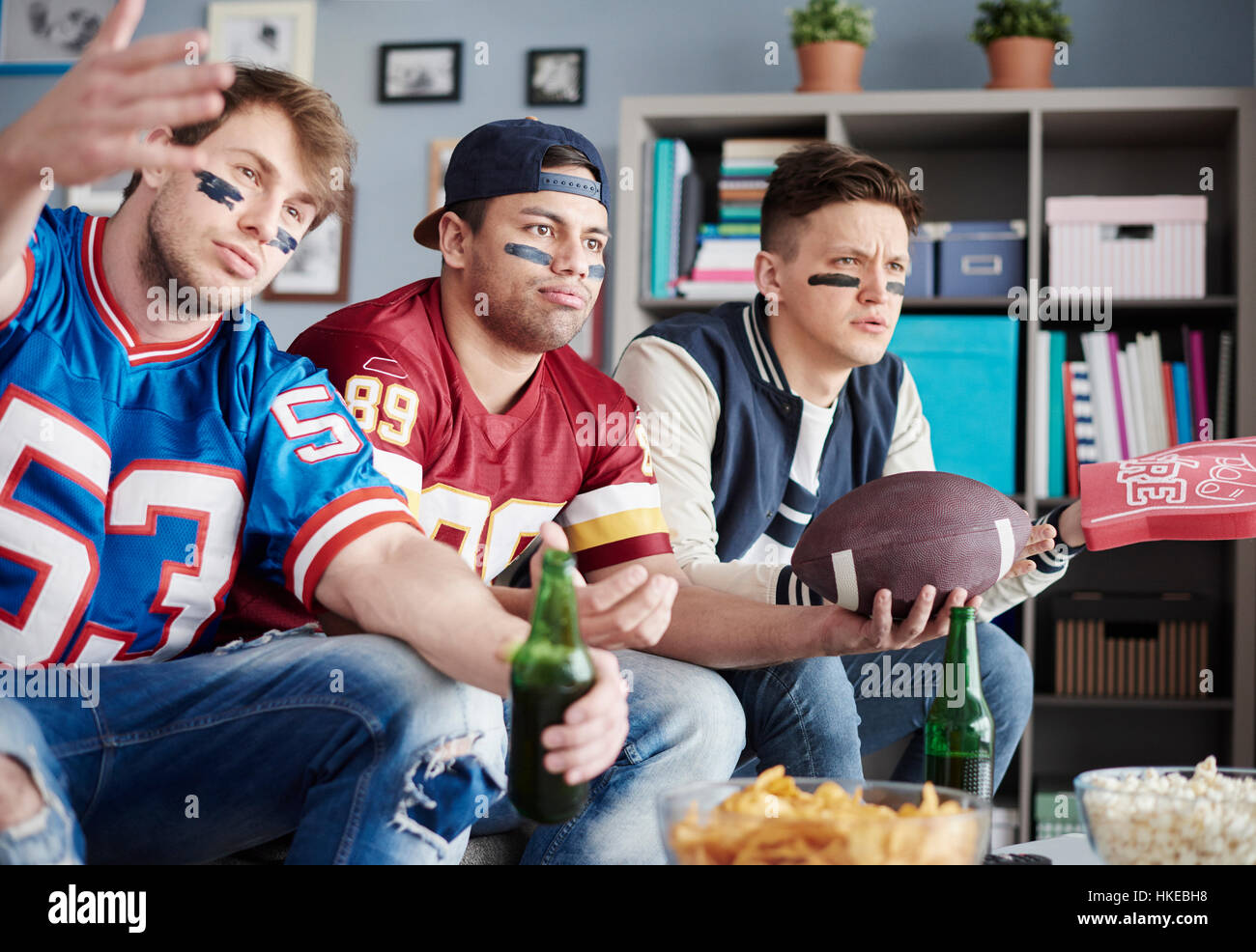 Guys was waiting for one more score but in vain - Stock Image