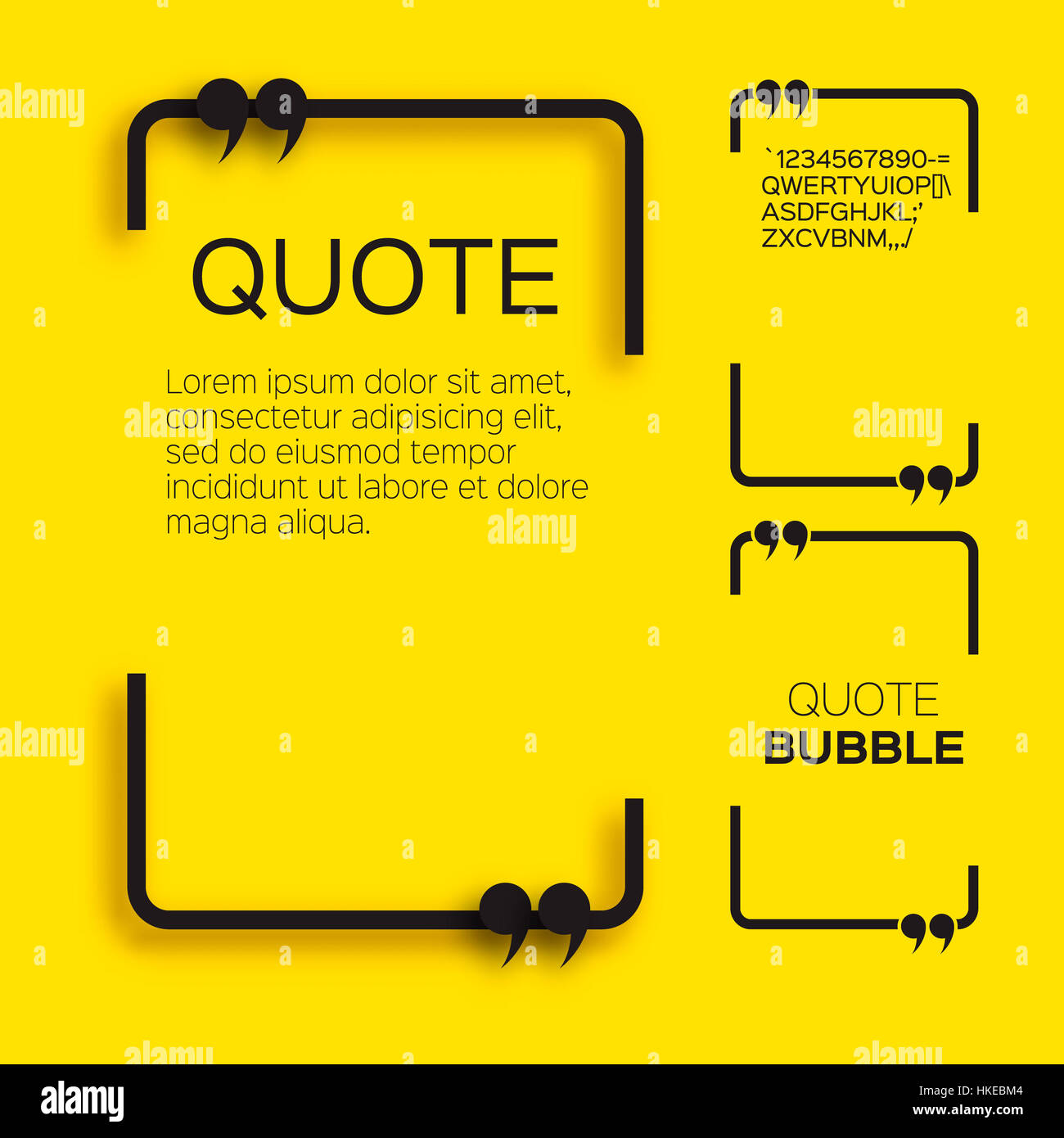 Quote bubble. Empty Citation text box template. Quote blank Stock ...