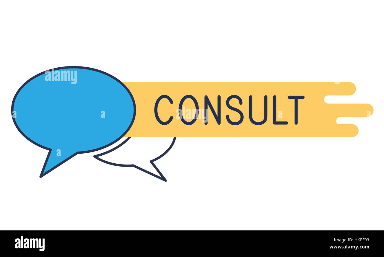 Consult Advice Assistance Suggestion Speech Bubble Concept - Stock Image