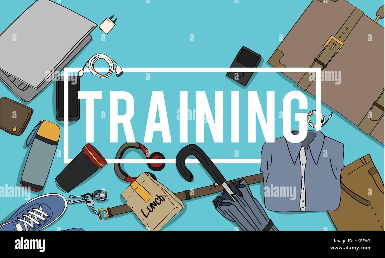 Training Skills Development Improve Concept - Stock Image
