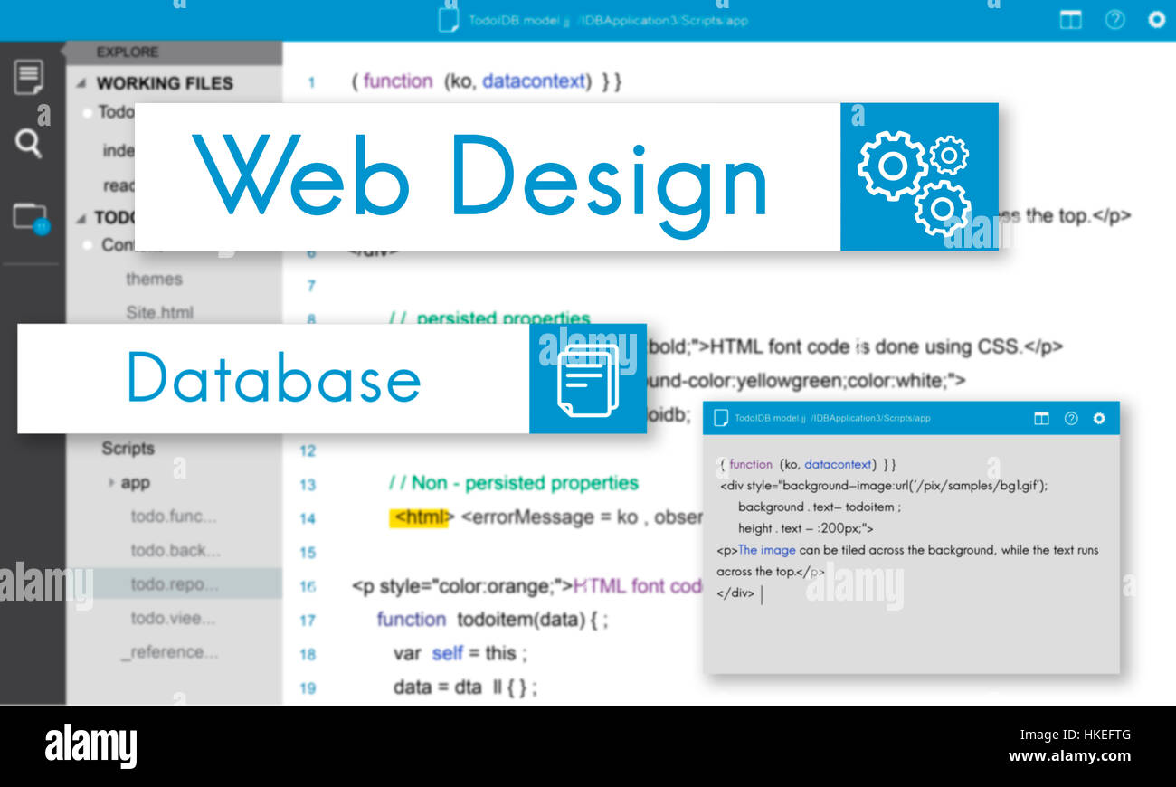 Web Design Website Coding Concept - Stock Image