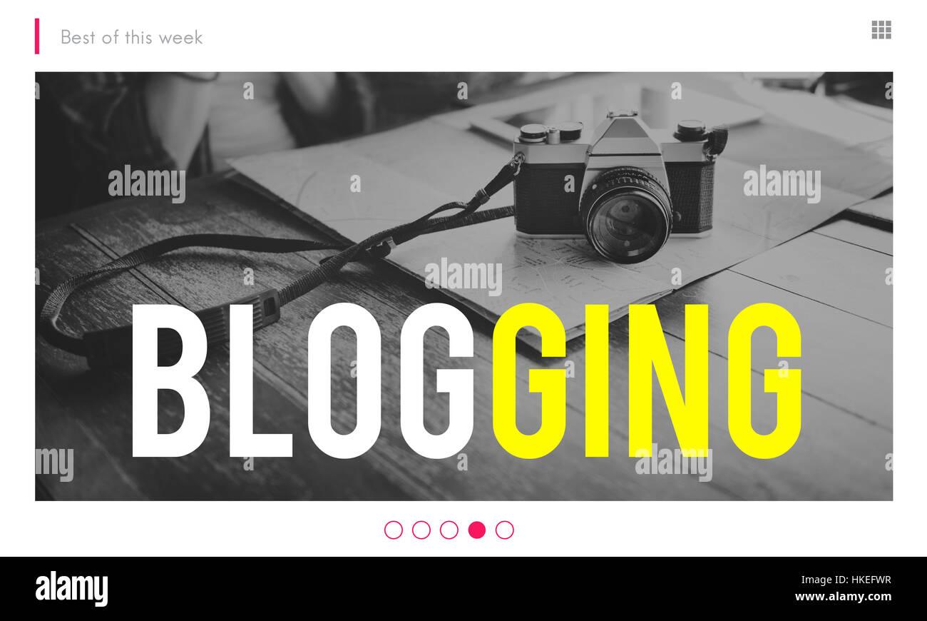 Blogging Gone Viral Camera Concept - Stock Image