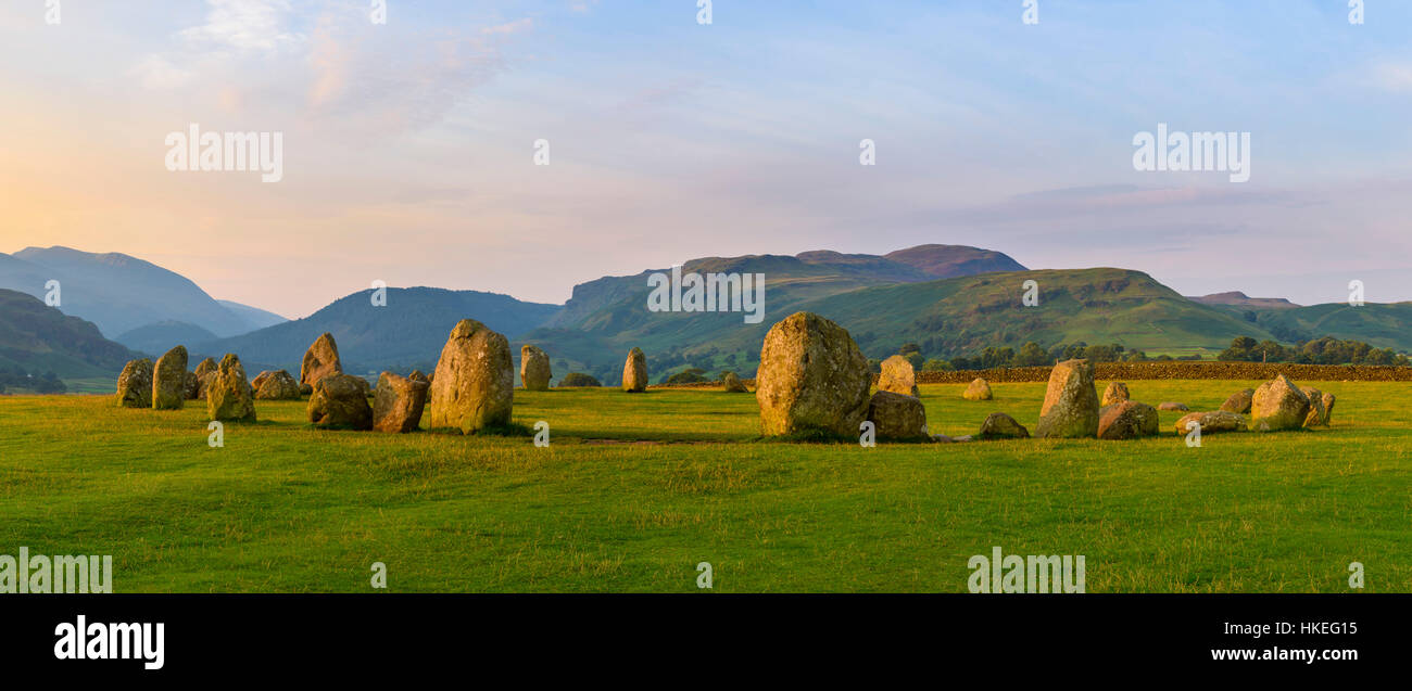 Castlerigg Stone Circle, near Keswick, Cumbria, England - Stock Image
