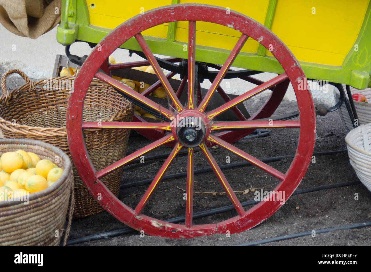 Cart at Eden Project Cornwall Stock Photo