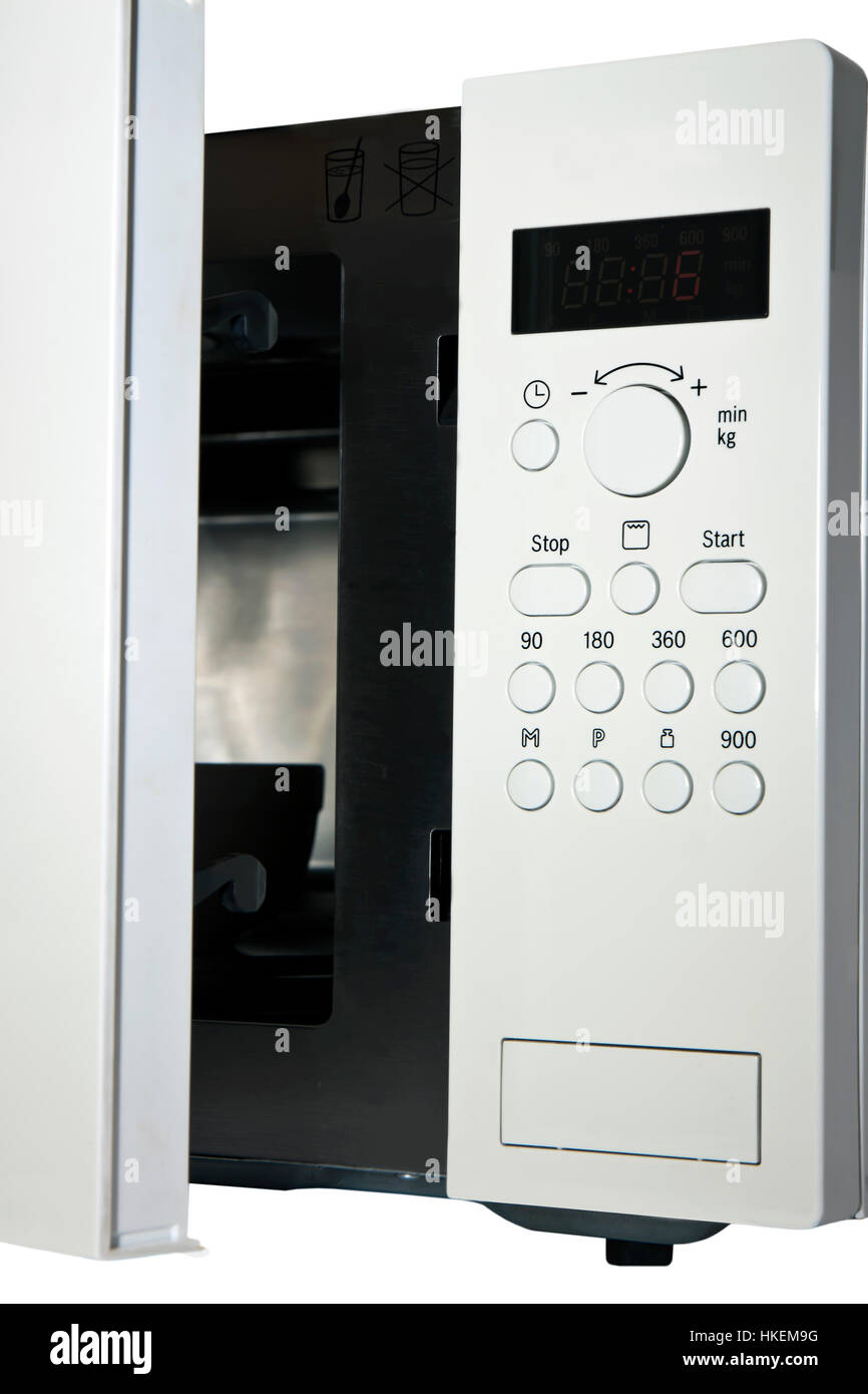 control panel for microwave oven Stock Photo