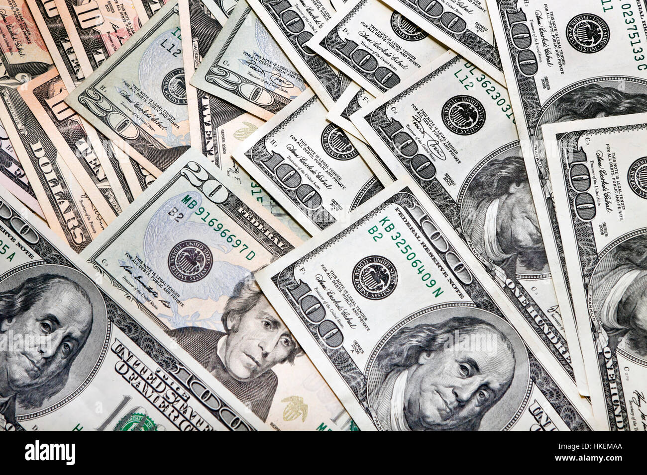 money as a background Stock Photo