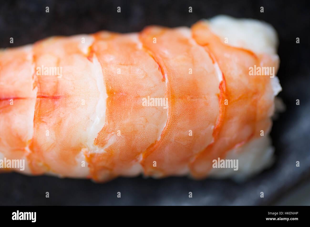 Sushi Rice Food Raw Fish Healthy Eating Shrimp Ebi Nigiri