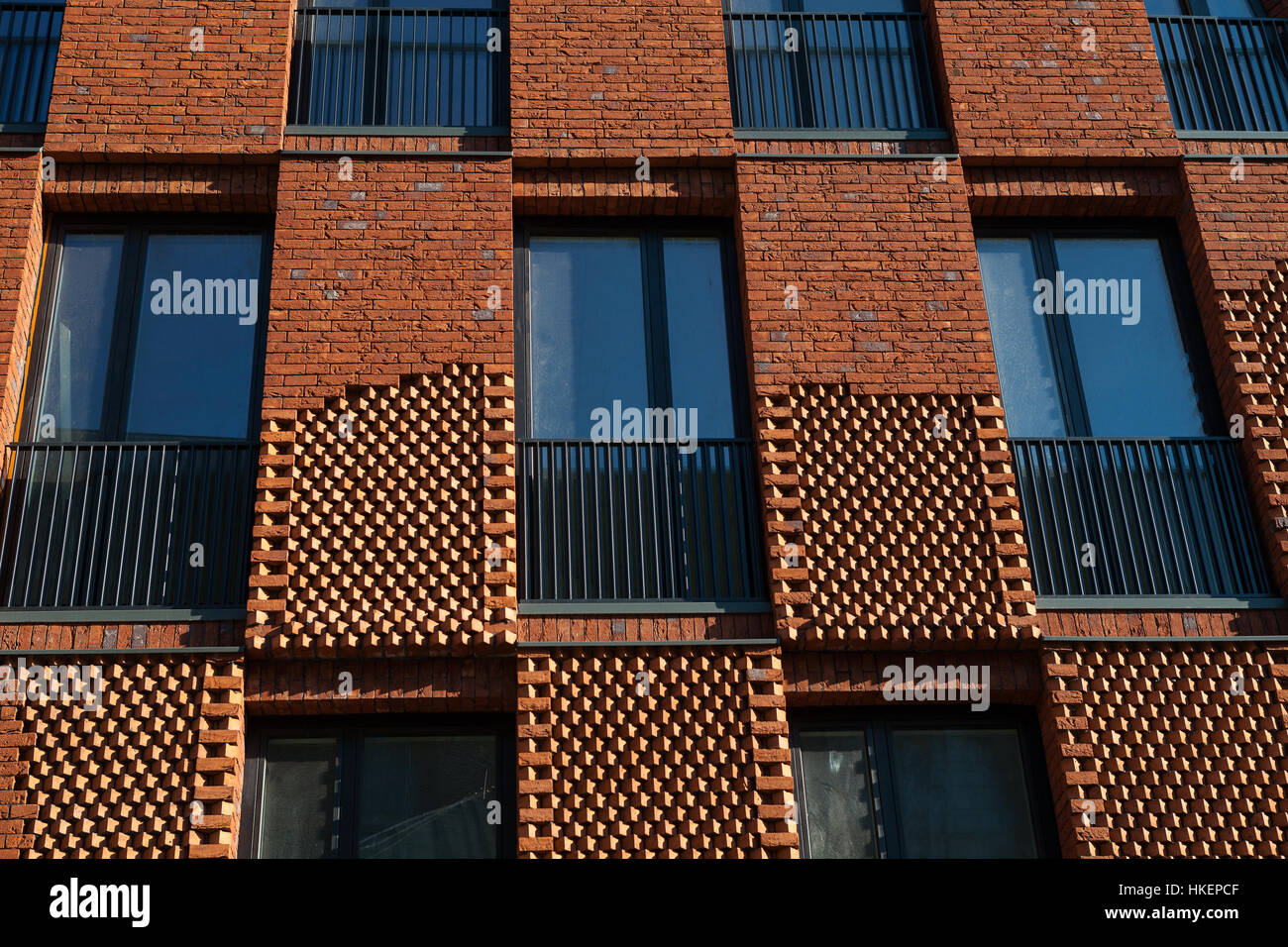 Facade of modern brick apartment house conceptual design for Brick facade house