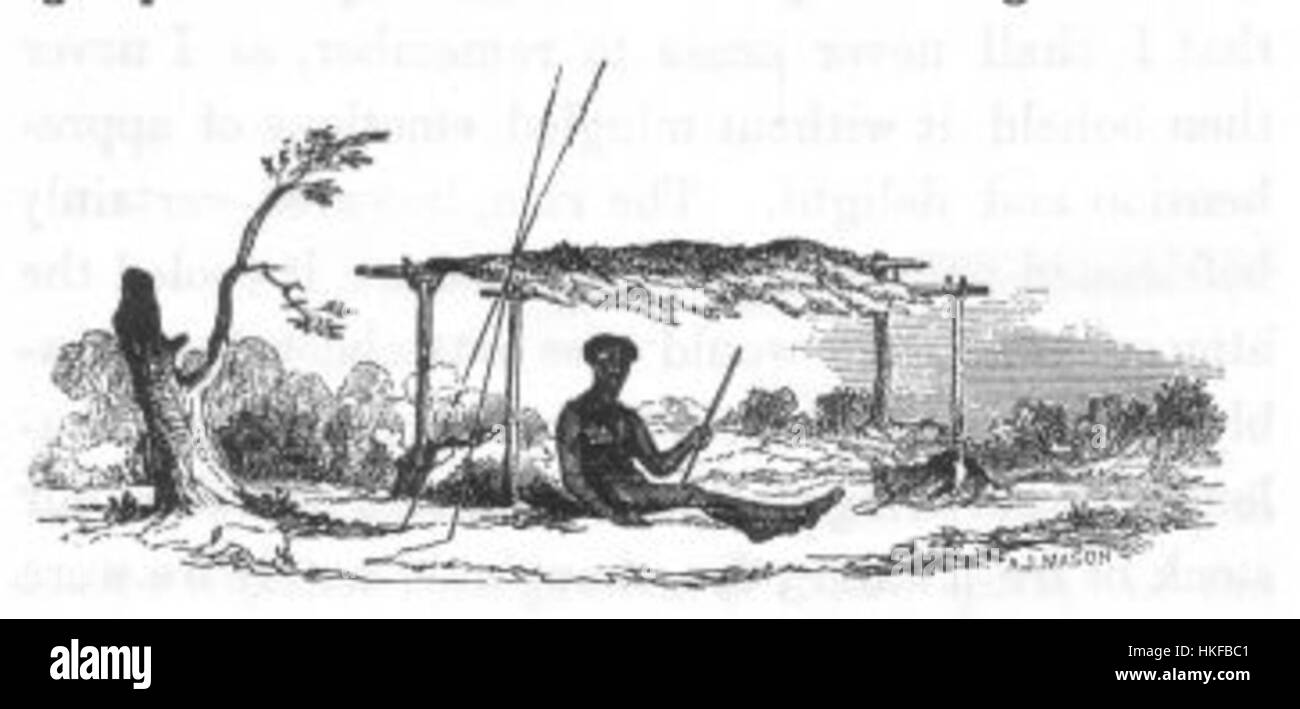 Native habitation (Discoveries in Australia) - Stock Image