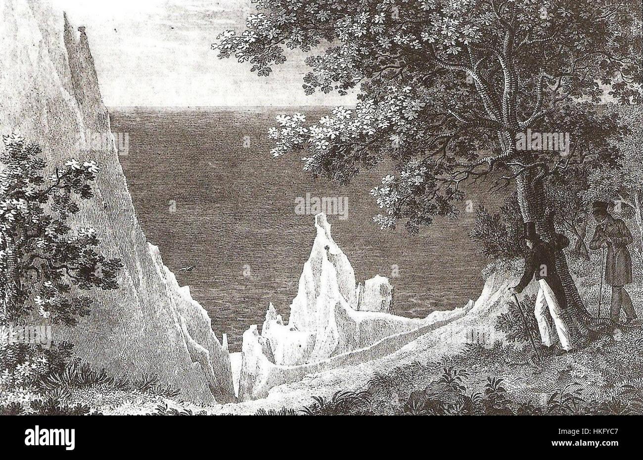 Stubbenkammer (Stahlstich) - Stock Image