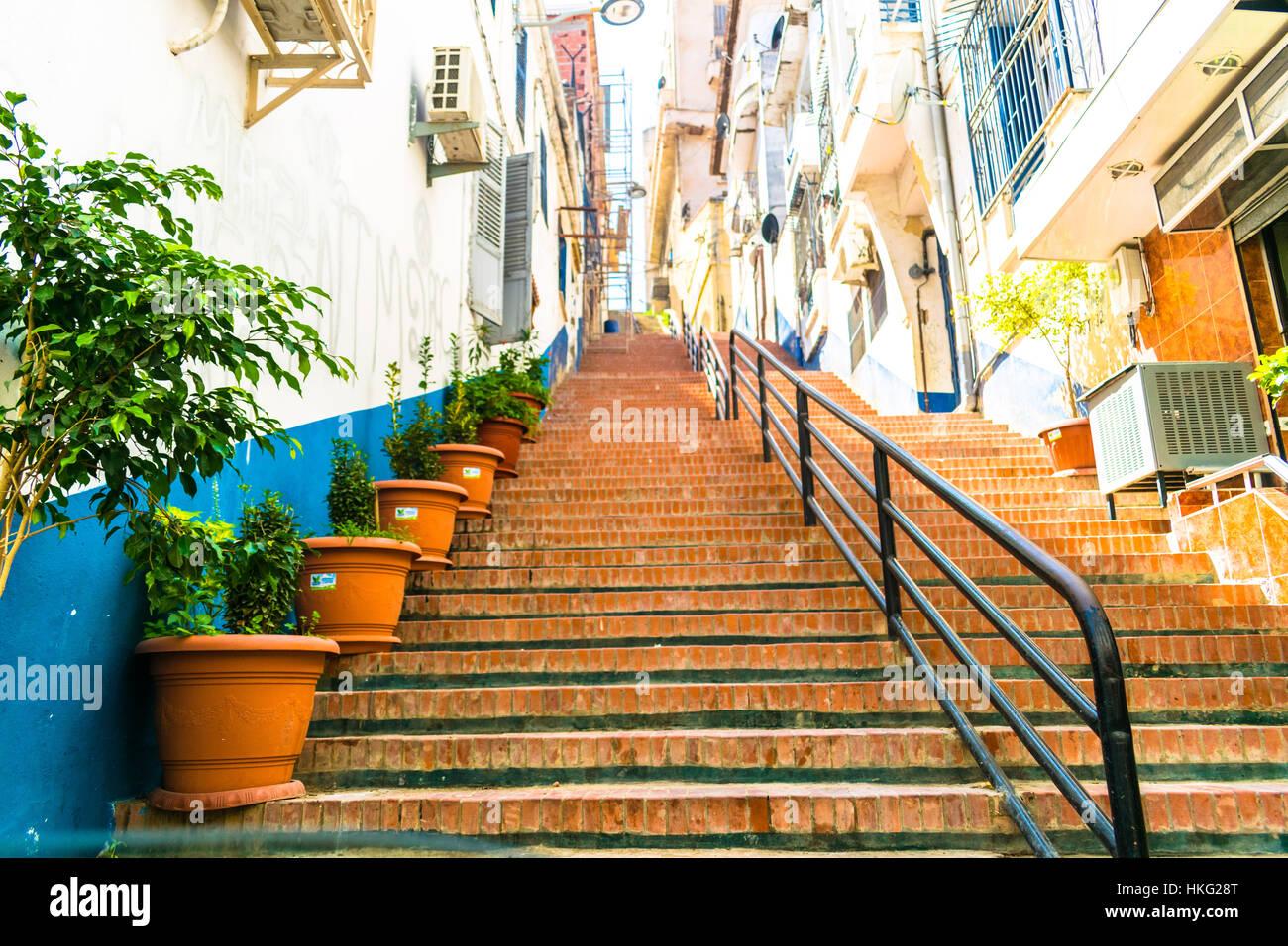 Stairway to light , Bejaia , Algeria , North-Africa Stock Photo