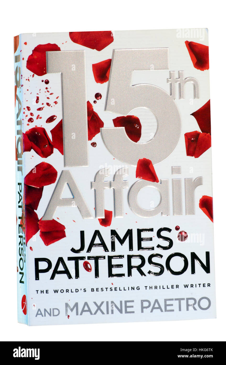 James Patterson Paperback Book 15th Affair - Stock Image