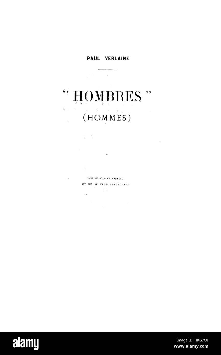 Hombres 1903 page 4.djvu - Stock Image