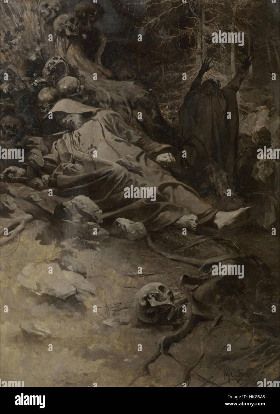 Alfons Mucha   Hora sv. Adalberta (1892) - Stock Image