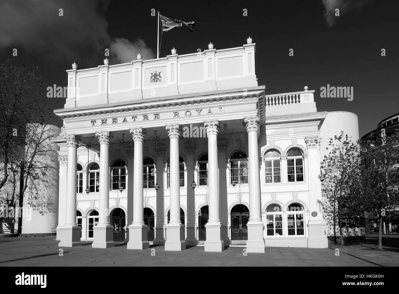 Summer, August, September, The Theatre Royal building, Nottingham city centre, Nottinghamshire, England, UK - Stock Image