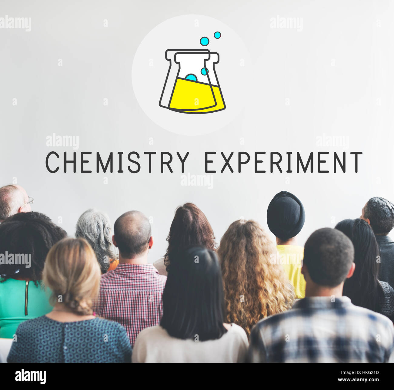 Chemical Education Experiment Formula Concept - Stock Image