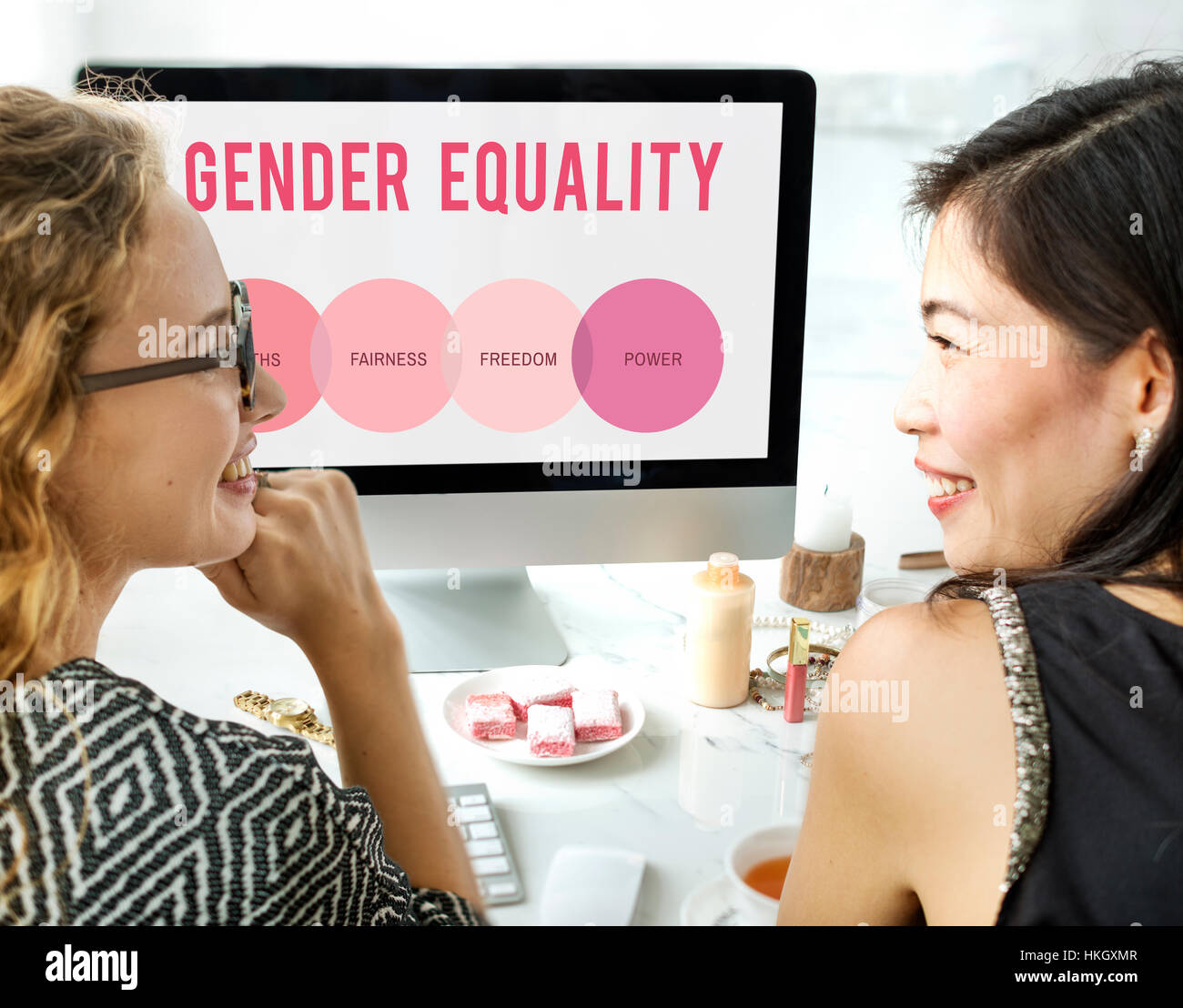 Women Rights Human Gender Equal Opportunity Concept - Stock Image