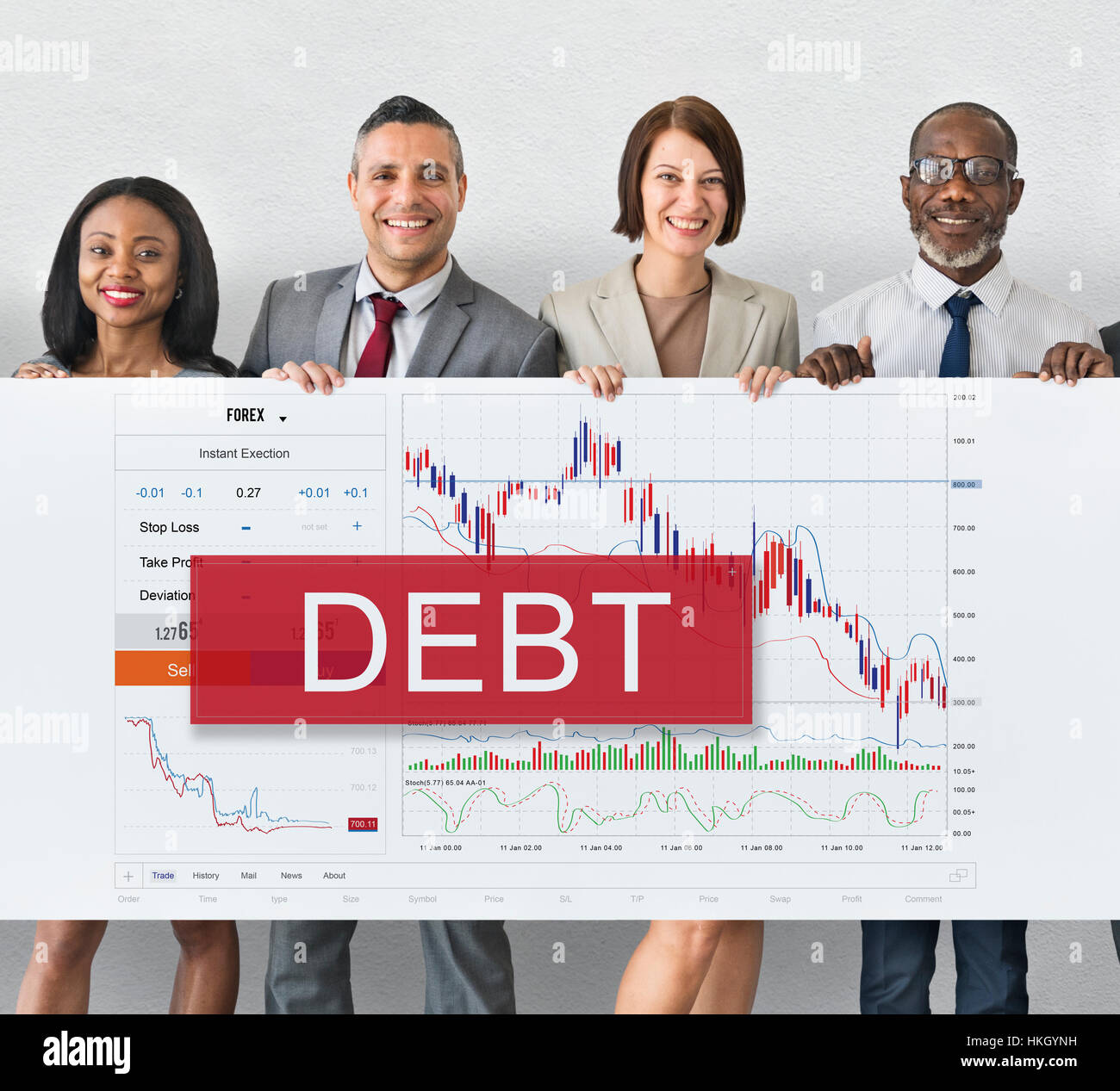 Debt Chart Graphic Diagram Concept - Stock Image