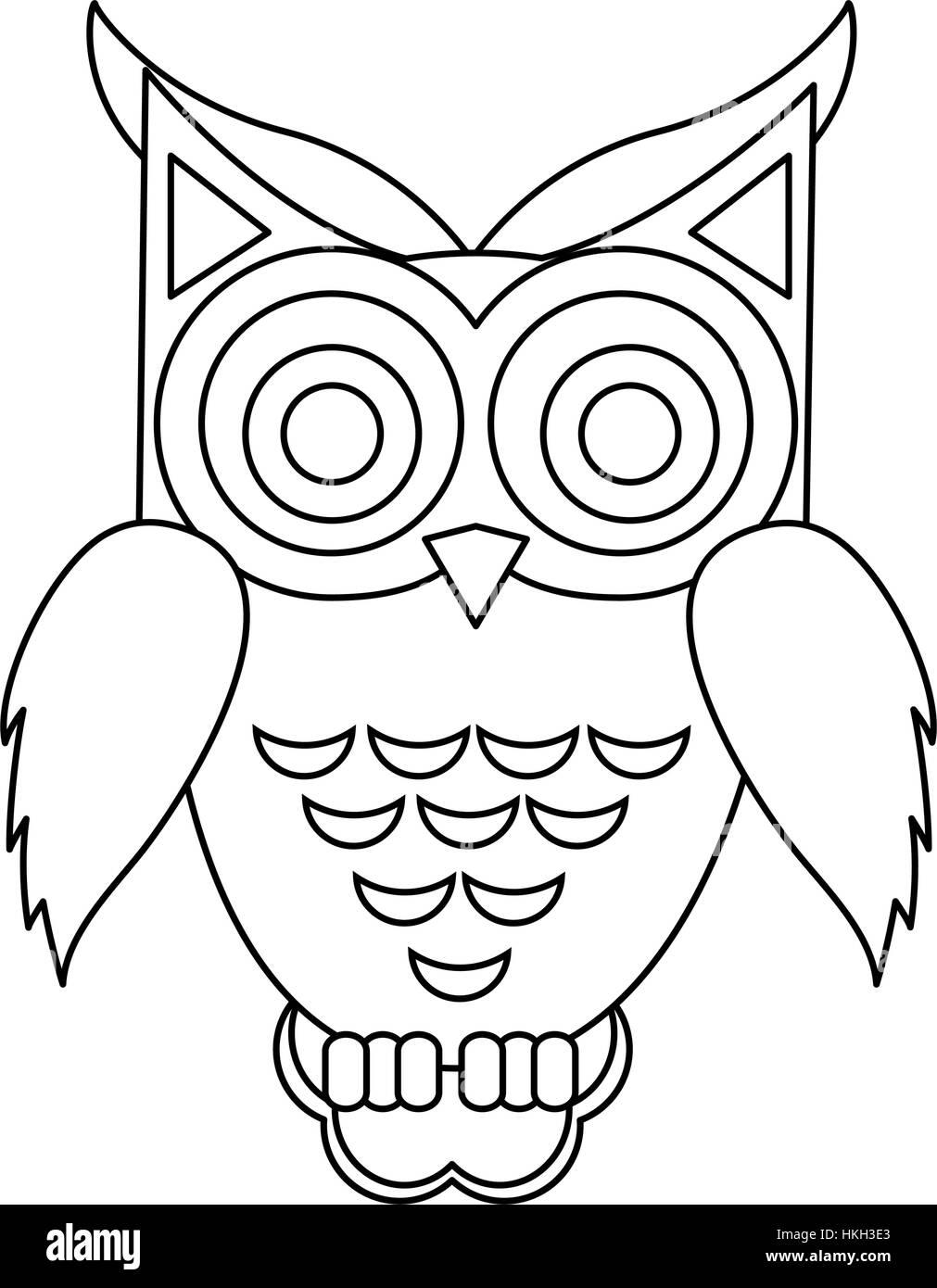 Owl Cartoon Black And White Stock Photos Images Alamy