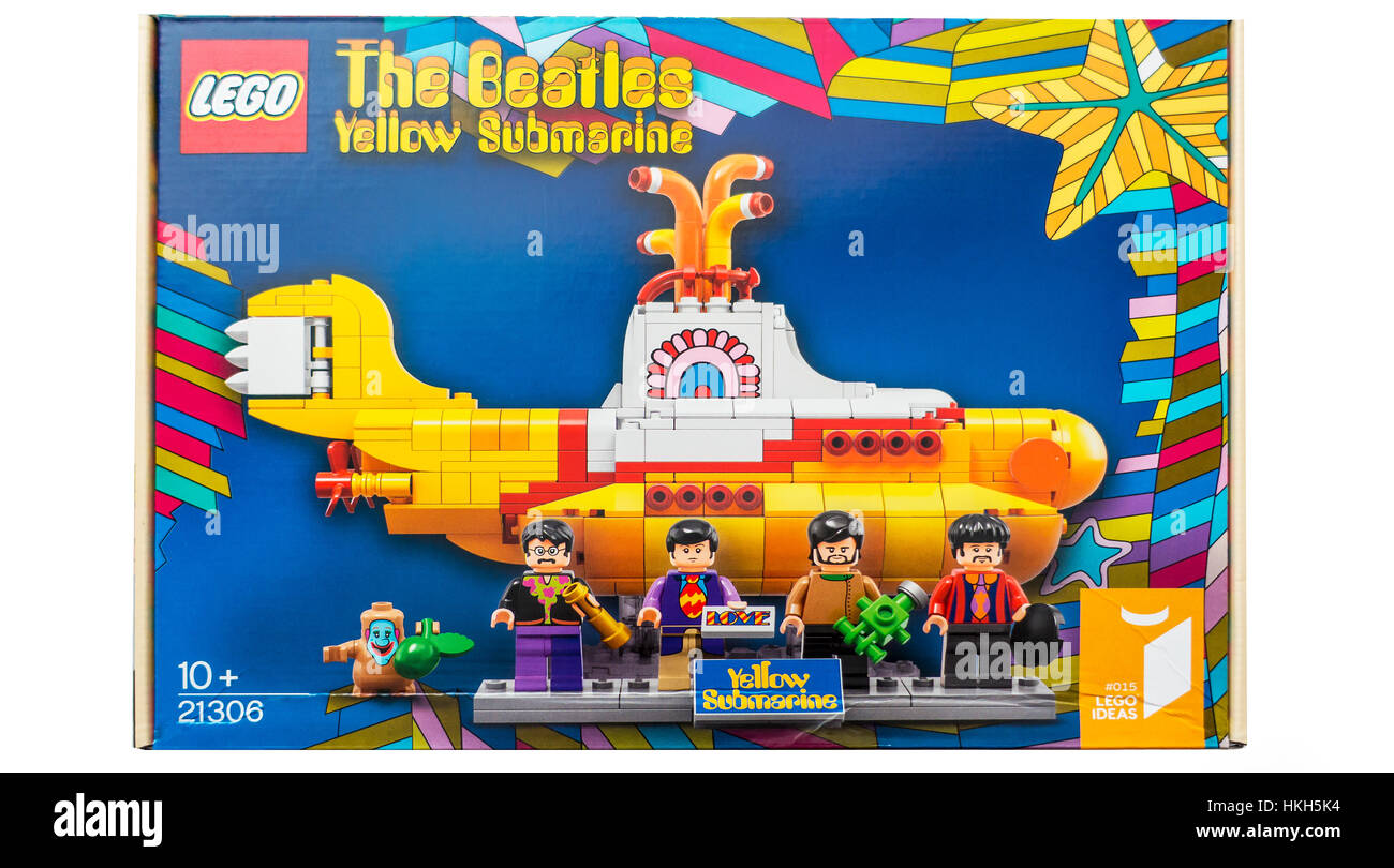 Lego The Beatles Yellow Submarine Construction Kit - Stock Image