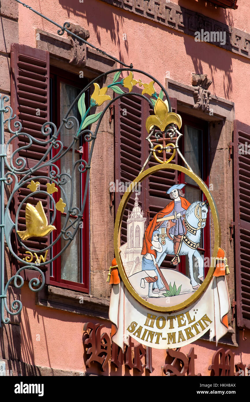 Classic signage in Colmar - Stock Image