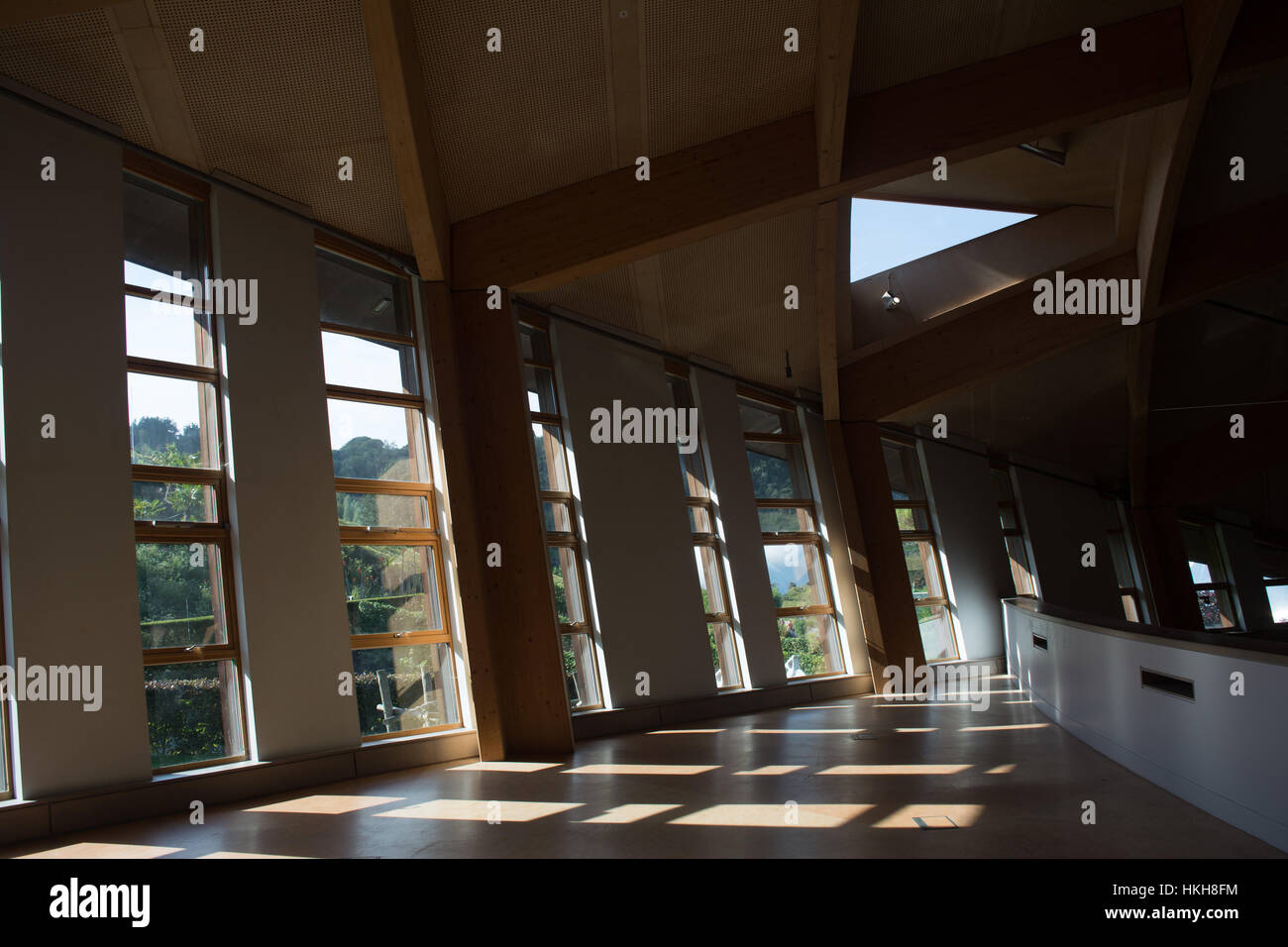 upstairs of The Core building, Eden Project, Cornwall - Stock Image