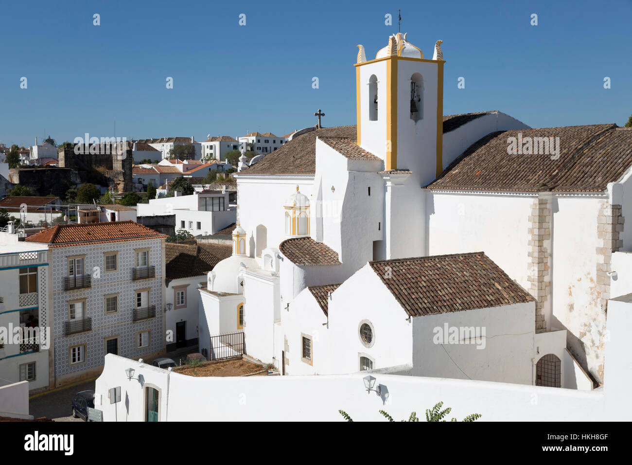 Igreja de Santiago church, Tavira, Algarve, Portugal, Europe - Stock Image