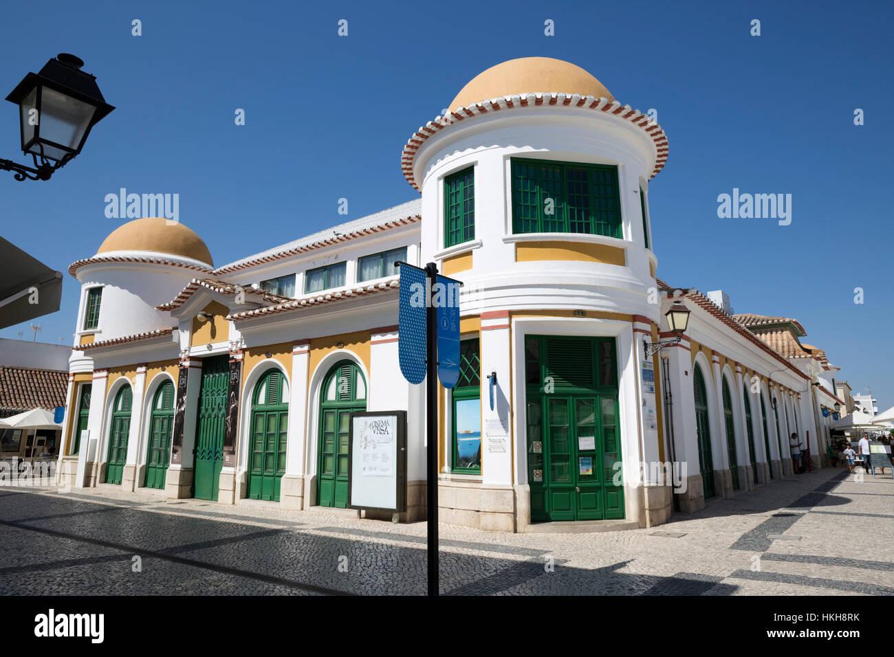 The Barracks (now housing the Antonio Aleixo Cultural Centre), Vila Real de Santo Antonio, Algarve, Portugal, Europe - Stock Image