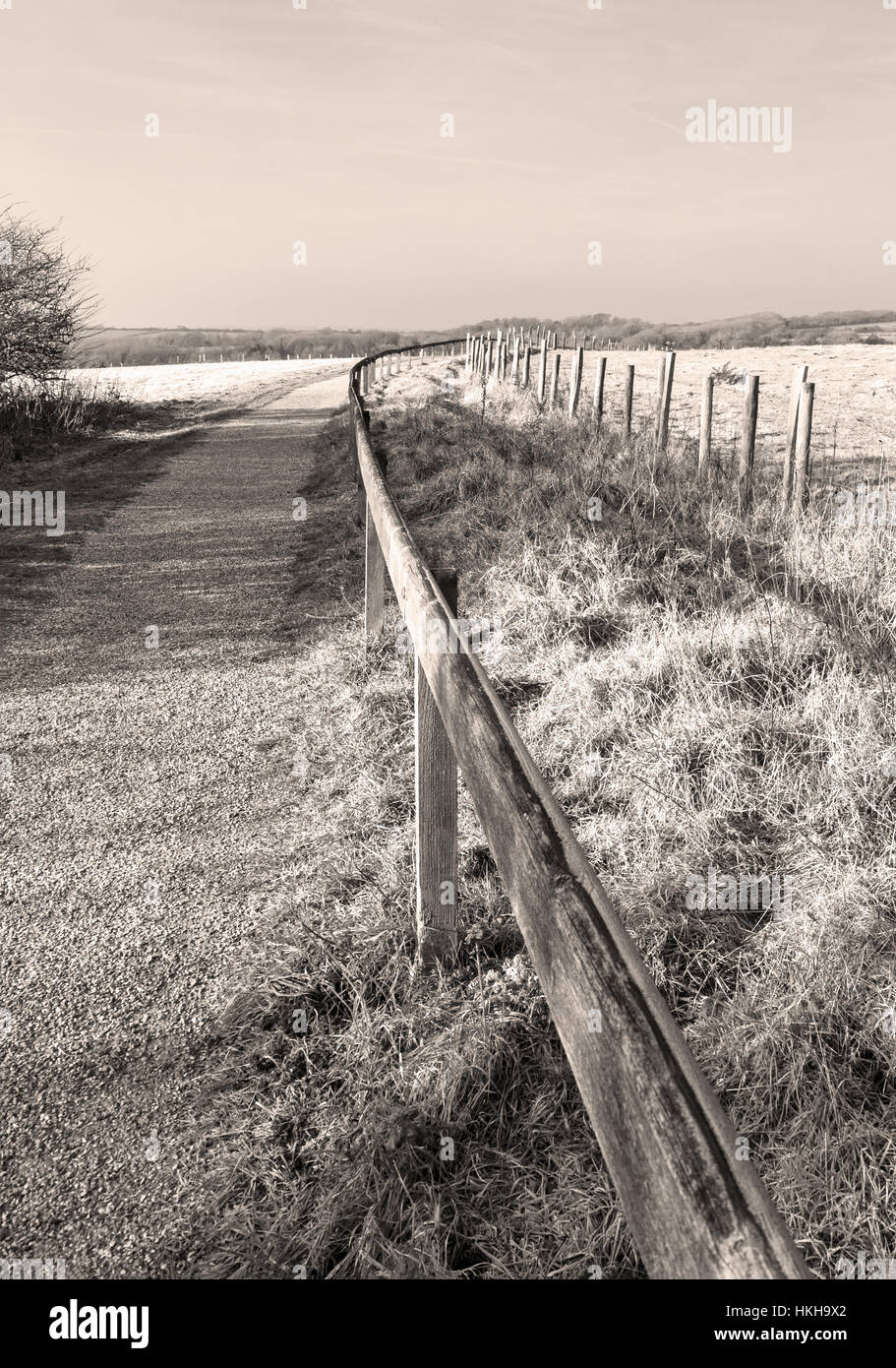 speia image of path in countryside leading into the distance - Stock Image