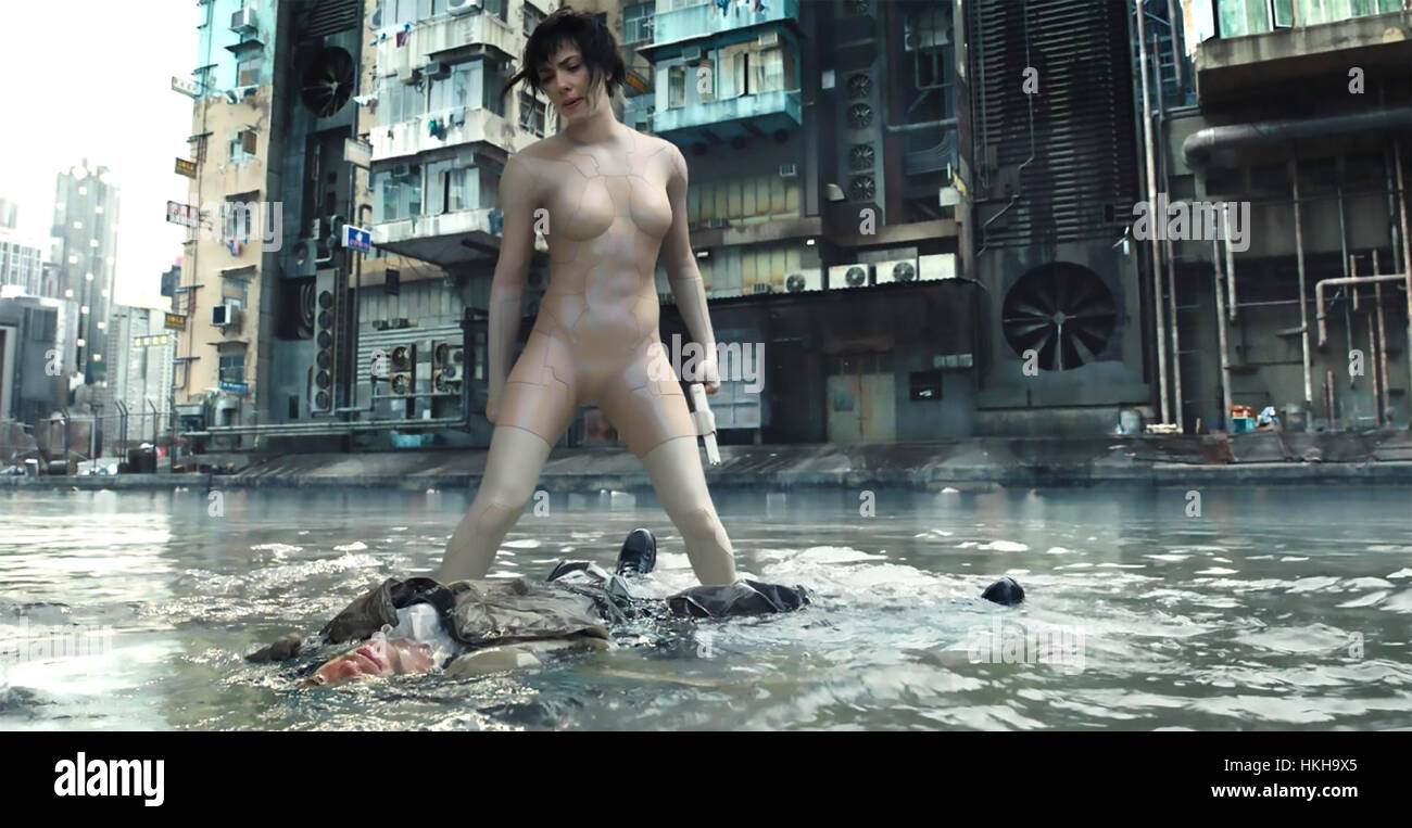 GHOST IN THE SHELL 2017 Paramount Pictures film with Scarlett Johansson - Stock Image